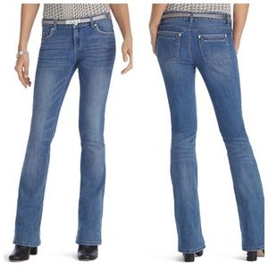 WHBM Flare Skinny Light Wash Jeans Size 4P